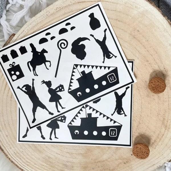 Sinterklaas DIY stickers decoratie maken