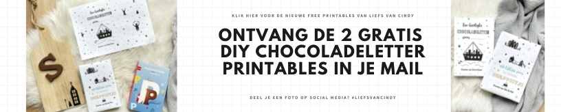 Printable chocoladeletter