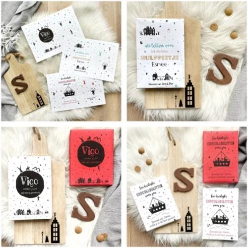 Printable chocoladeletters met naam