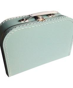 Kinderkoffertje mintgroen, met bedrukking bij Liefs van Lauren