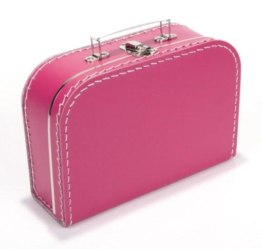Kinderkoffertje fel roze, bedrukking naar wens