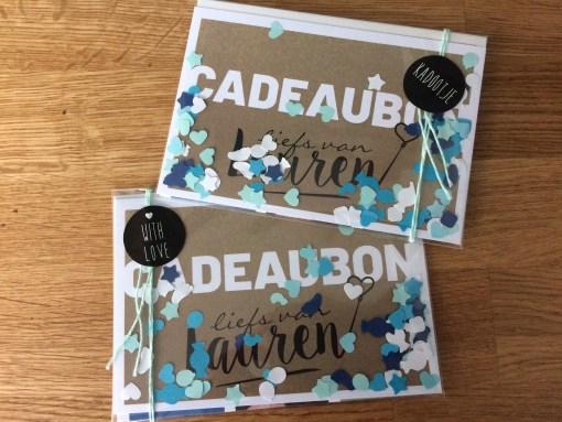 Cadeaubon, standaard ingepakt Liefs van Lauren