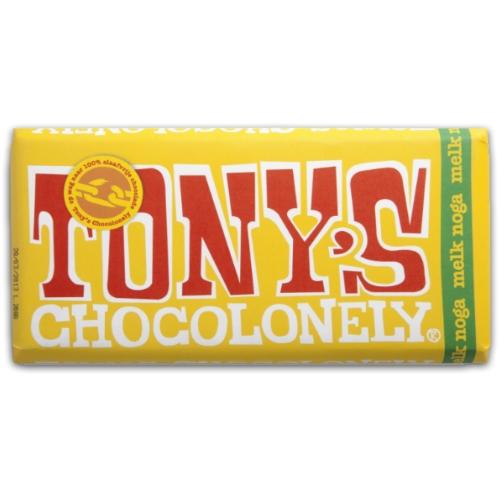 Tony's Chocolonely Reep Melk Noga Chocolade