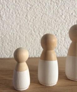 Houten poppetjes, peg dolls wit, Liefsvanlauren.nl
