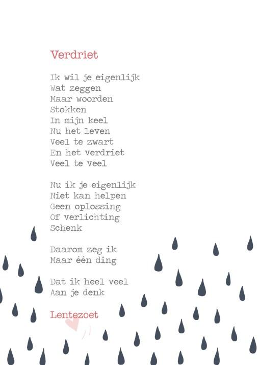 Verdriet gedicht Lentezoet -liefsvanlauren.nl