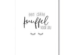 Een dikke knuffel voor jou, kaart, ansichtkaart, MIEKinvorm, liefsvanlauren.nl