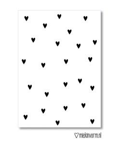 Kleine hartjes kaart, MIEKinvorm, liefsvanlauren.nl