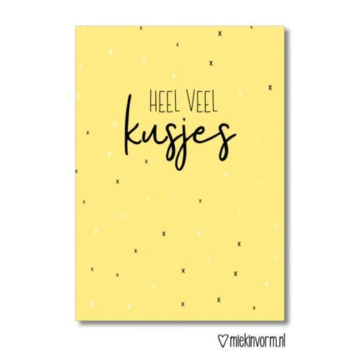 heel veel kusjes, kaart, miekinvorm, liefsvanlauren.nl