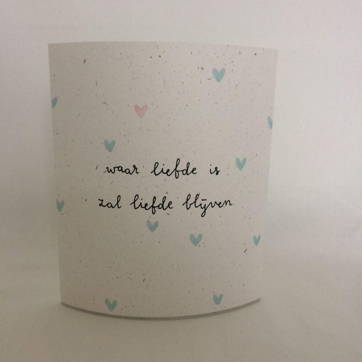 Waar liefde is, lichtje voor jou, waterplant papier, lichtpuntje, liefsvanlauren.nl