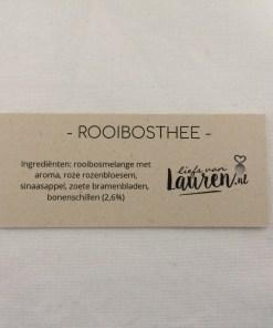 Thee wens rooibos, 4 smaken, warme groet, kopje troost, liefsvanlauren.nl