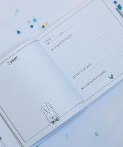 babyboek blauw, het eerste jaar, liefsvanlauren.nl