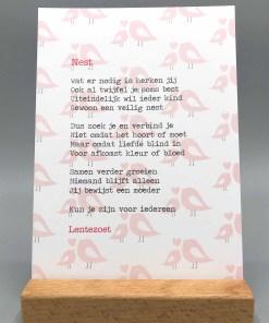 Gedicht nest, nest, lentezoet, pleegzorg, liefsvanlauren.nl