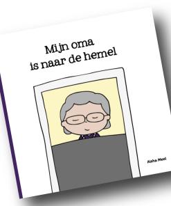 Mijn oma is naar de hemel, Aisha meel, regenboogserie, rouw, overlijden oma, liefsvanlauren.nl