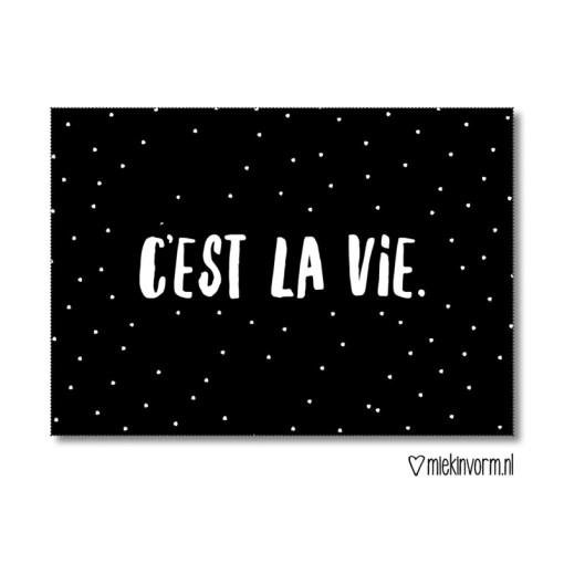 C'Est La Vie, kaart miekinvorm, zo is het leven, liefsvanlauren.nl