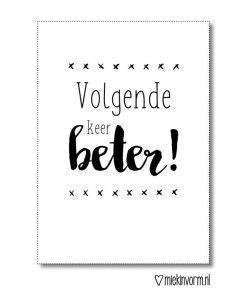 volgende keer beter kaart, miekinvorm, liefsvanlauren.nl