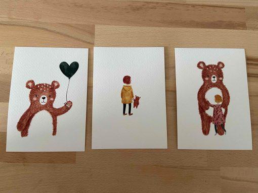 Serie herinneringen, kinderlijn, carmens tekentafel, eigen collectie, liefsvanlauren.nl