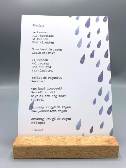 gedicht regen, lentezoet, rauwe rouw, gemis, verdriet, gedicht verdriet, overlijden, liefsvanlauren.nl