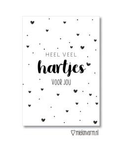 heel veel hartjes kaart, miekinvorm, kaartje wat altijd kan, liefsvanlauren.nl