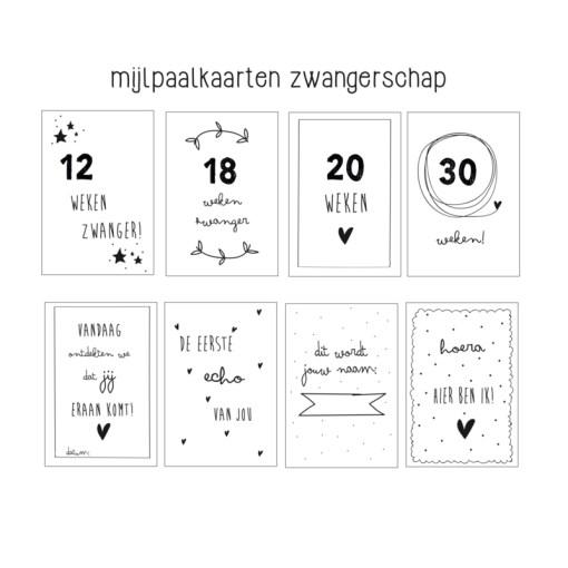 mijlpaalkaarten zwangerschap, huisje no56, mijlpaalkaart, milestones pregnancy, liefsvanlauren.nl