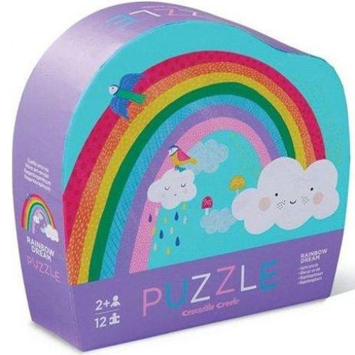 mini puzzel regenboog, rainbow puzzle, crocodile creek, liefsvanlauren.nl