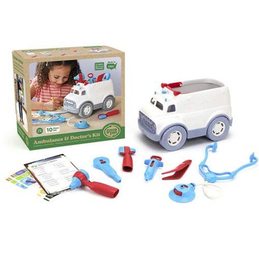 Ambulance met doktersset, Green Toys speelgoed, doktertje spelen, liefsvanlauren.nl