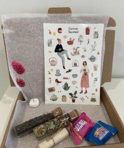 high tea, brievenbus pakketje, brievenbus post, liefs met de post, Carmens Tekentafel, liefsvanlauren.nl