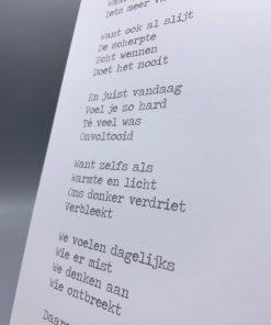gedicht onvoltooid hem, gedicht over gemis en verdriet, rouw, lentezoet, liefsvanlauren.nl