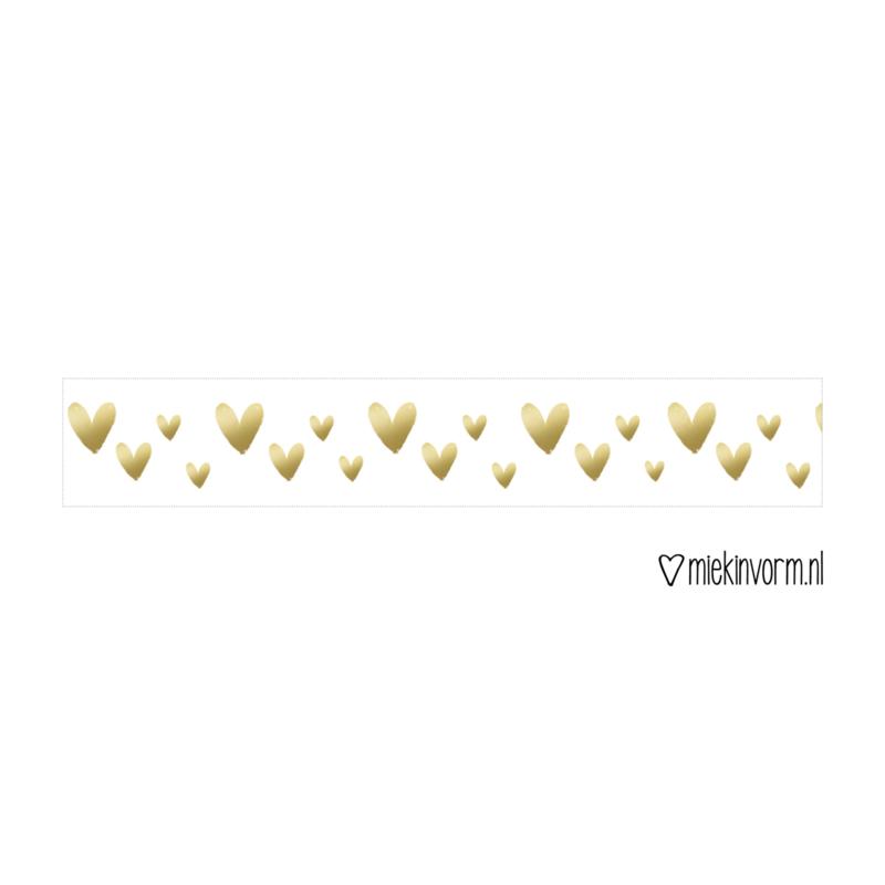 washi tape hartjes goud, making tape, miekinvorm, stationary, liefsvanlauren.nl