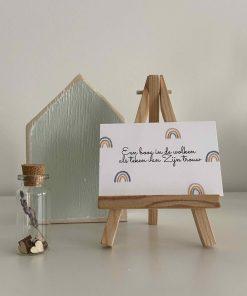 pakket een boog in de wolken, een boog in de wolken als teken van Zijn trouw, sela, ik zal er zijn, carmens tekentafel, liefsvanlauren.nl