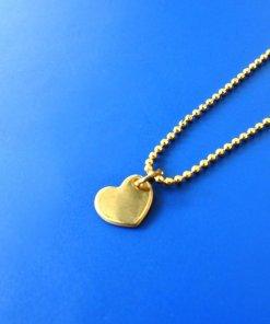 balletjes ketting met verguld hart, all things we like, vergulde gouden ketting, sieraden, hartje, liefsvanlauren.nl