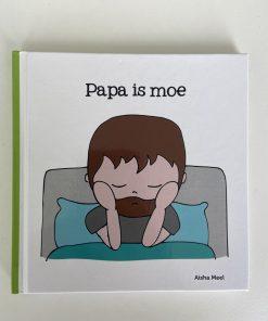 papa is moe, chronisch ziek, Aisha Meel, De Wonderwolk, regenboogreeks, liefsvanlauren.nl