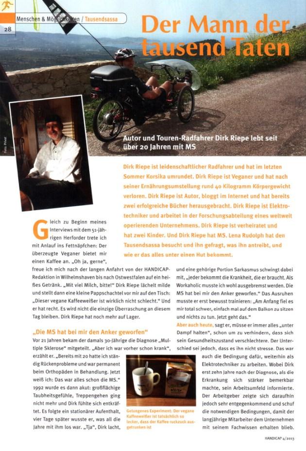 Artikel Dirk Riepe in Handicap 04 2013