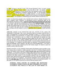 Filing & Release of Lien Forms | Texas Mechanics Liens