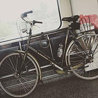 Eén van mijn fietsen bij voor bij de fiets tag een blog vragenlijst over plezier fietsen.