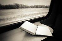 Een boek in de trein