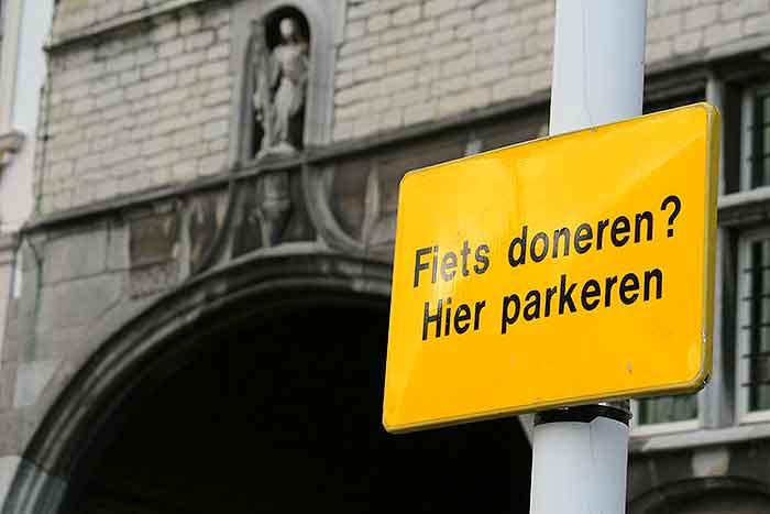 parkeerproblemen voor de fiets