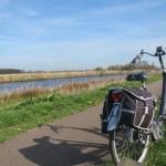 fietsen,zon,Friesland,voorjaar