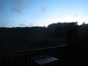 Zweden,Tjörn,regen,avond