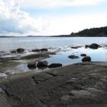 Zweden,Tjörn,Berga,zee,rotsen,regen,zon,2015