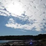 Zweden,Berga,strandje,zee,licht,lucht,2015,Tjörn
