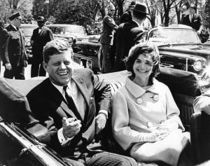 John en Jacky Kennedy,Dallas,22-11-1963