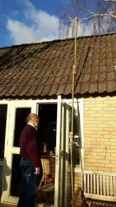 Digitenne,tuinhuis,stok,antenne