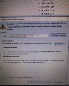 e-mail,storing,Ziggo,certificaat,
