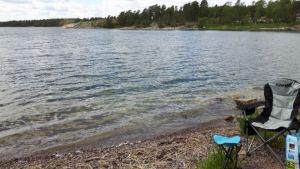 Zweden,Loftahammar,reddingsboot,strandje,zee,mei,2016
