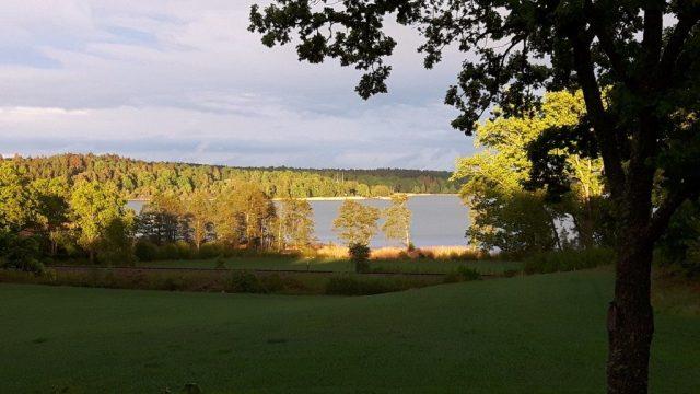 Zweden,Gamleby,B&B,Pensionat Ullevi,mei,2016,uitzicht,avondzon