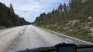 Zweden,lange lege wegen,juni,2016