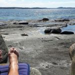 Zweden,strandjes,voeten,zwemmen, mei,juni,2016