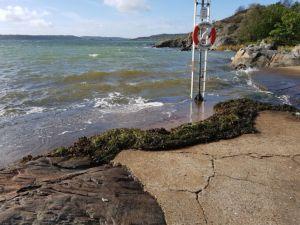 Wind en golven op Olsby, Tjörn, Zweden, record