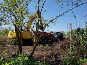 Vrachtwagens vol nieuwe grond