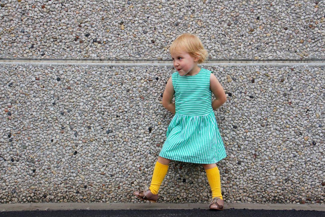 Tinny Dress Straight Grain